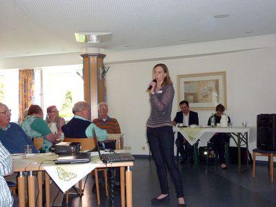 Nadine Kleen klärte die Teilnehmer über neurogene