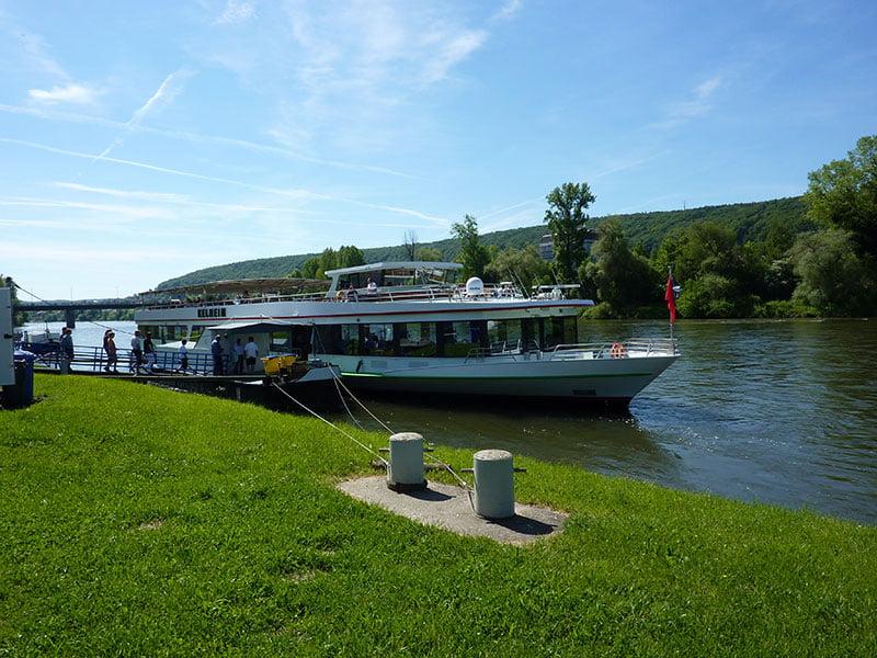 Unser Schiff für die 3-stündige Fahrt Kehlheim-Donaudurchbruch-Riedenburg