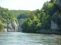 Einfahrt in den Donaudurchbruch