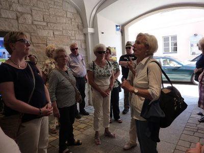 Kleine Stadtführung in Beilngries mit unserer Gästeführerin Anneliese Wein