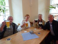 In der Klosterschänke Weltenburg war das Bier köstlich