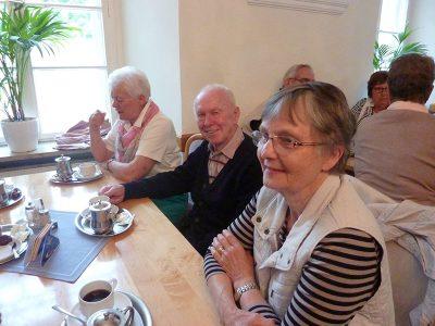 Es gab auch Kaffee in der Klosterschänke...