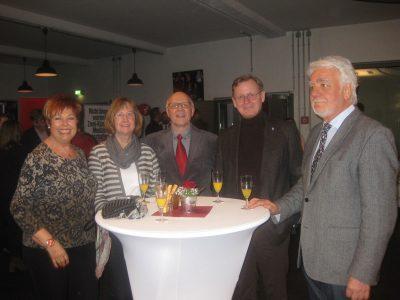 Bärbel Siepmann, Margret und Reiner Krauße, Ministerpräsident Bodo Ramelow, Norbert Klapper (v.l.)