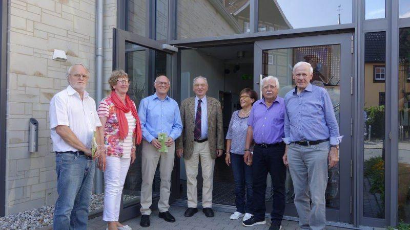 v.li.: Hagen Libeau, Fenna Hagmann, Reiner Krauße, Wilfried Mahler, Karin Stampe, Klaus Stampe, Gert Hagmann