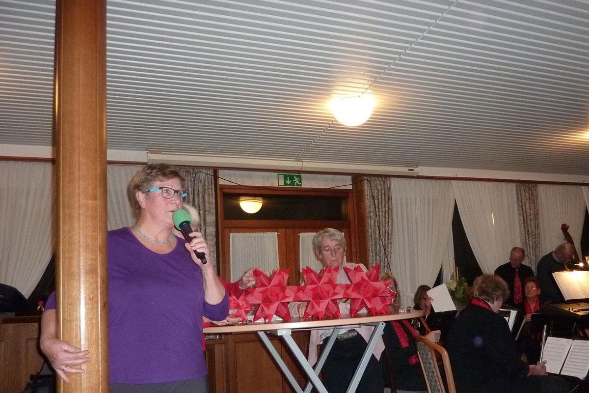 Veronika Trötschler sprach für die Mitglieder.