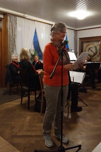 """Luise Jürgens trug ein von ihrem Ehemann Willi verfasstes Gedicht """"Ein Traum"""" vor."""