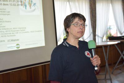 Simone Heinicke, stellvertretende Leiterin beim DRK OV Burgsteinfurt stellte sich vor