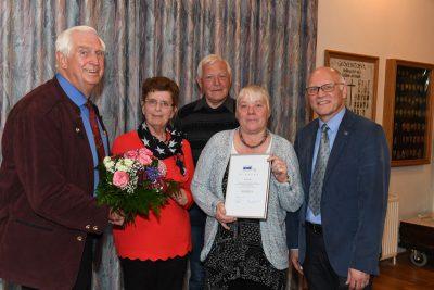 Vorsitzender Heinz Lah ehrte Mitglieder, bedankte sich für ihr Engagement und bei Gast Reiner Krauße.