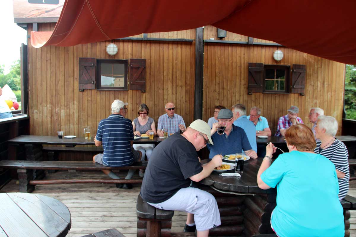 Mittagspause im Hafen von Neustrelitz