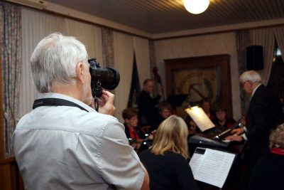 Unser Fotograf Hagen Libeau in Aktion.